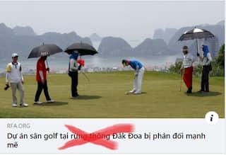 RFA lại chọc ngoáy Dự án sân Golf ở Đắk Đoa