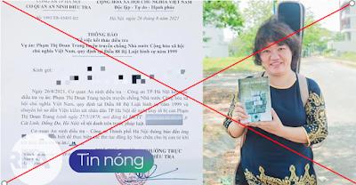 Phạm Đoan Trang bị bắt oan ức cái nỗi gì?