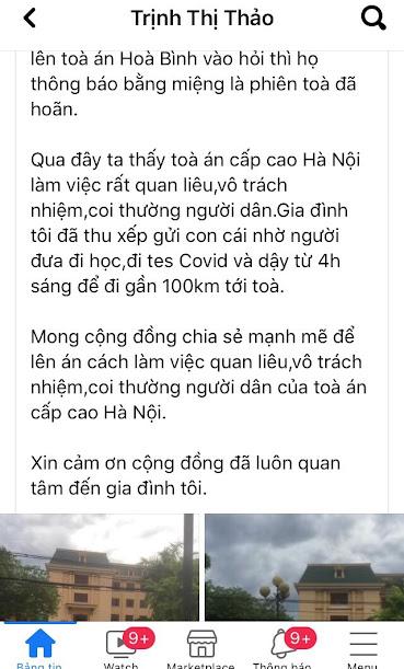 Thuyết âm mưu về việc đề nghị hoãn phiên tòa phúc thẩm Cấn Thị Thêu, Trịnh Bá Tư ngày 17/9/2021